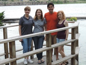 (from left), Karen with family members Anna Foldy, Mark Reyes, Lauren Reyes